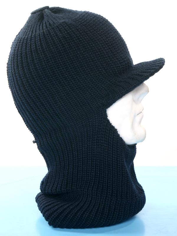 Passamontagna cappello neve in lana con visiera colori verde mimetico blu  nero ... e5d57c2005c0