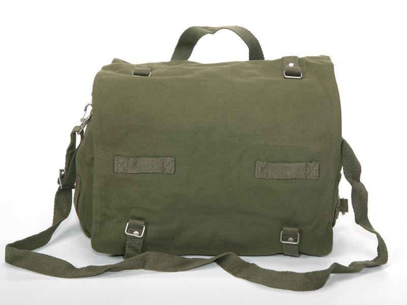 88800a5380 BAGA2 - Borse e Marsupi - fratelliditalia abbigliamento militare e softair  e abiti da lavoro - Borsa a tracolla mod.tedesco cotone colori Verde Nero  ...