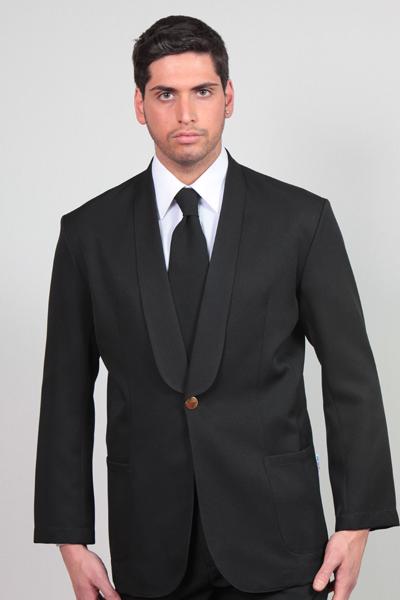 Giacca da uomo nera scialle cameriere ristorante bar sala lavoro hotel  elegante ... f8ab94fd5c9c