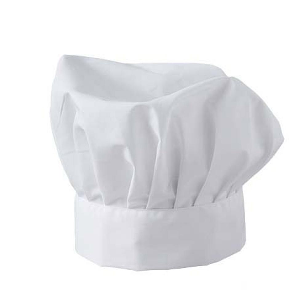 Cappello cuoco chef ristorazione cucina pizzaiolo pizzeria cotone colore  bianco ... 5b28da8efa0f