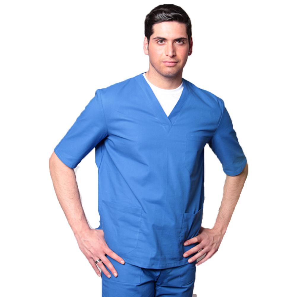 Completo divisa ospedaliera infermiere sanitario clinica vari colori puro  cotone ... 45548410d3cc