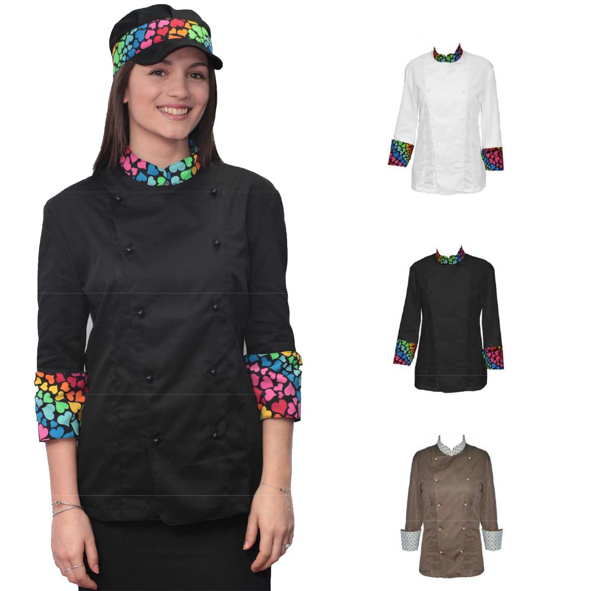 FRT-000011813 - Giacche Cucina - fratelliditalia abbigliamento militare e  softair e abiti da lavoro - Divisa giacca donna lavoro cuoco ristorazione  chef ... 98059b93622