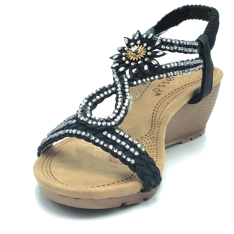5fab0b29ea461a Sandali scarpe aperte estive mare comode donna basse eleganti calzature ...