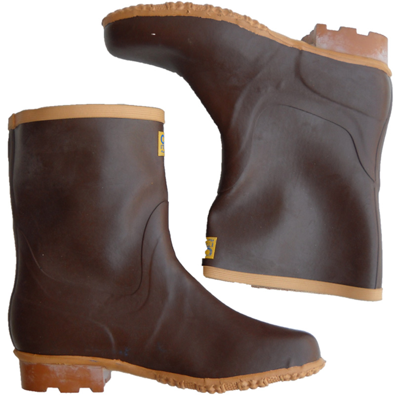 Boots booties brown tronchetti brown hard rubber inner lining