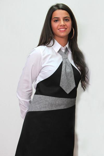 Grembiule cravatta paravanti cotone ristorante cameriera donna sala cucina 18b1a4fdb3c4