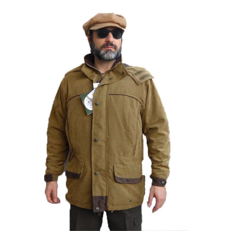 new style 8d228 c690d Dettagli su Giacca giubbino giubbotto microfibra caccia sportivo  impermeabile uomo cappuccio