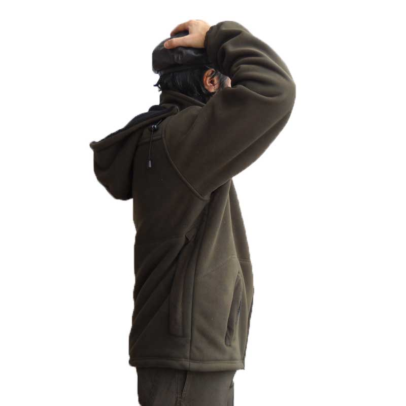 ... Maglia maglione golf pullover giacca caccia pile cappuccio pesca tasche  uomo ... 3bc46f4d2daa