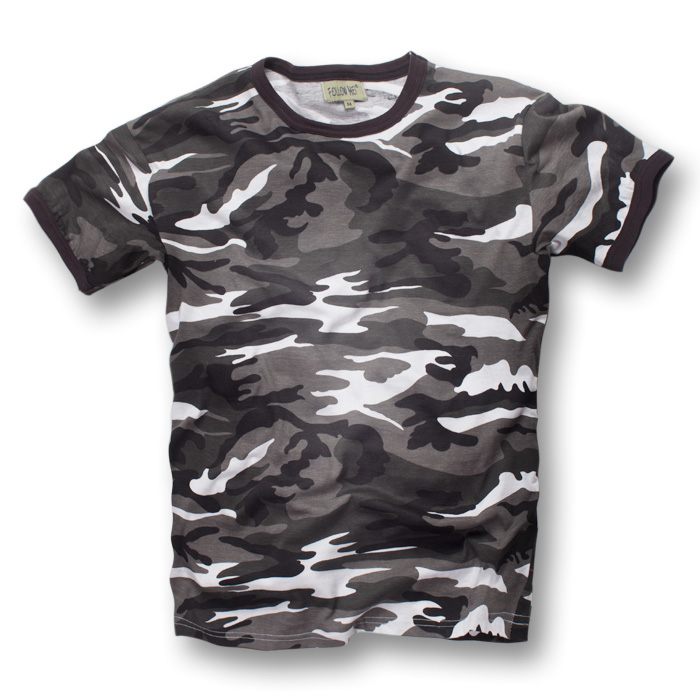 Jersey t-shirt baby t-shirt baby girl short-sleeved camouflage crew neck