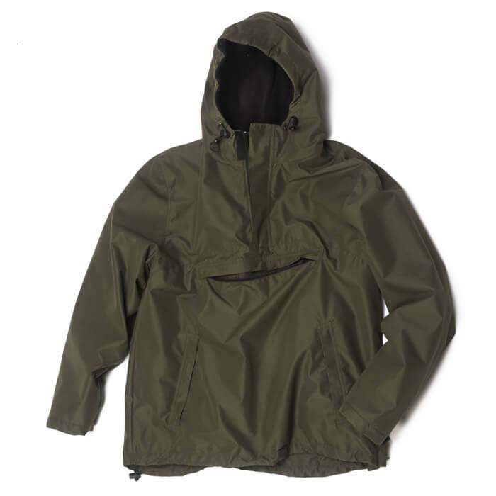 nuovo stile f70a2 0d321 Giacca a vento caccia impermeabile cappuccio pile giubbino pioggia nero  verde | eBay