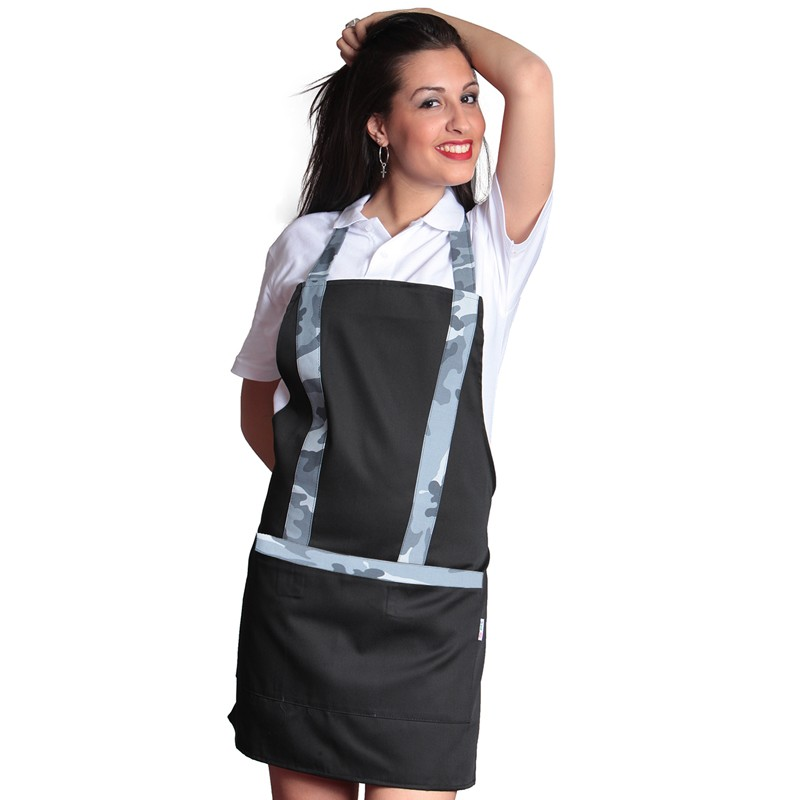 Apron paragilet woman mimetic pizzeria, bar work, pubs for military maid