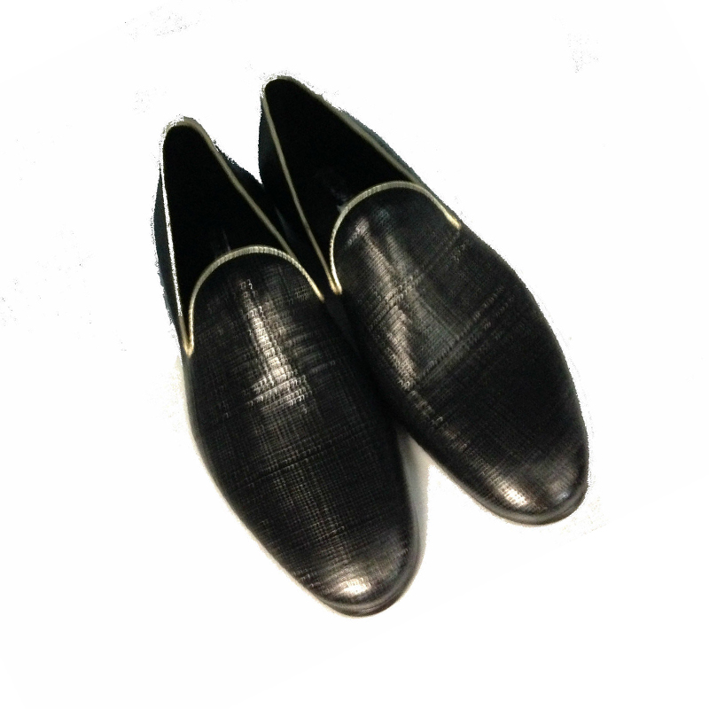 Mens shoes loafers black leather low men's shoes