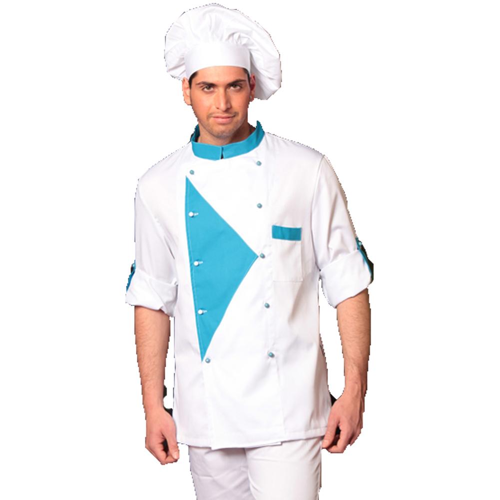Completo Chef cuoco 3pz offerta giacca pantalone cappello cotone ... 61f8197b65bc