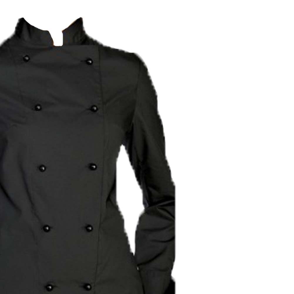 ... Giacca cuoco chef giacca bianca nera blu celeste grigia rossa marrone  vari color ... 7cad1e9a2c64