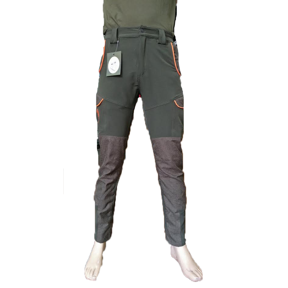 Trousers man pants kevlar hunting waterproof orange slim stretch