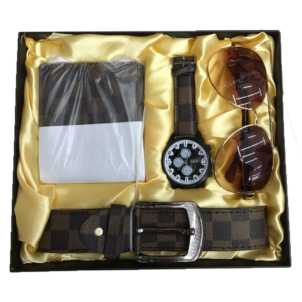 Sunglasses pack belt gift man christmas kit set wallet watch