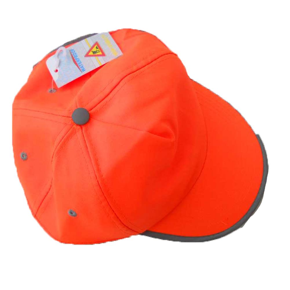 Cappello berretto cappellino alta visibilita  lavoro arancio rifrangente  visiera 921f3d80980c