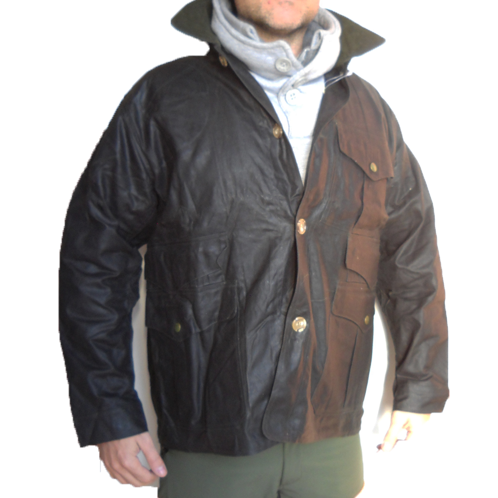 Jacket greased waxed jacket hunting waterproof, tear-proof, antispine man