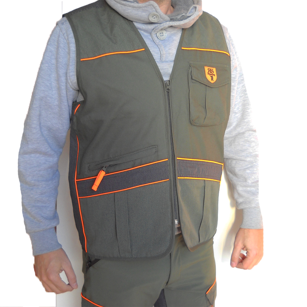 Waistcoat hunting sleeveless vest kevlar, canvas, waterproof, tear-proof, man