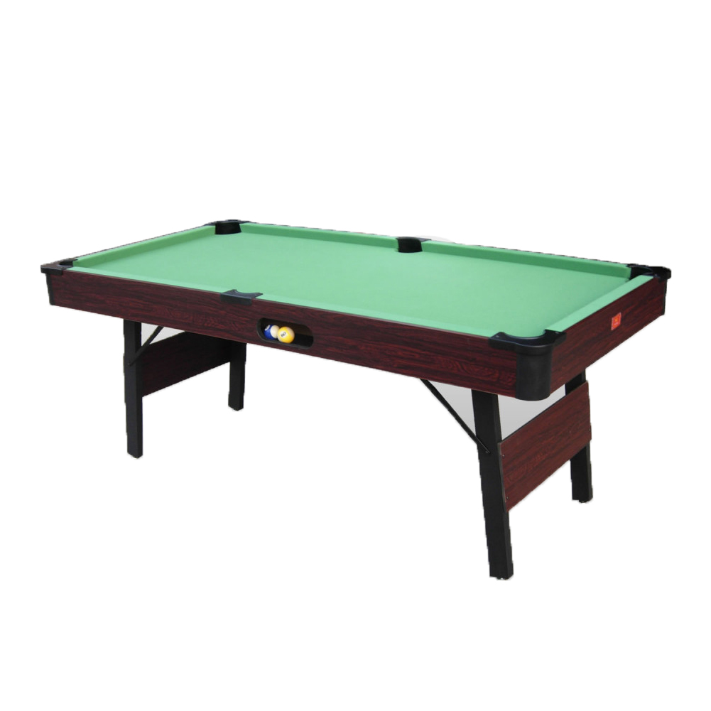 Billiards table game folding walnut wood cues balls game room bar billiard room