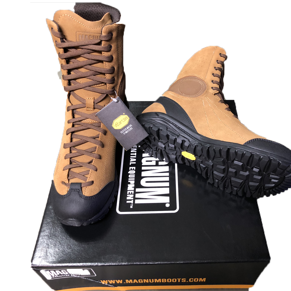 Anfibi stivaletti magnum Approach Tactical 8 in Pelle Coyote Tan militari alti