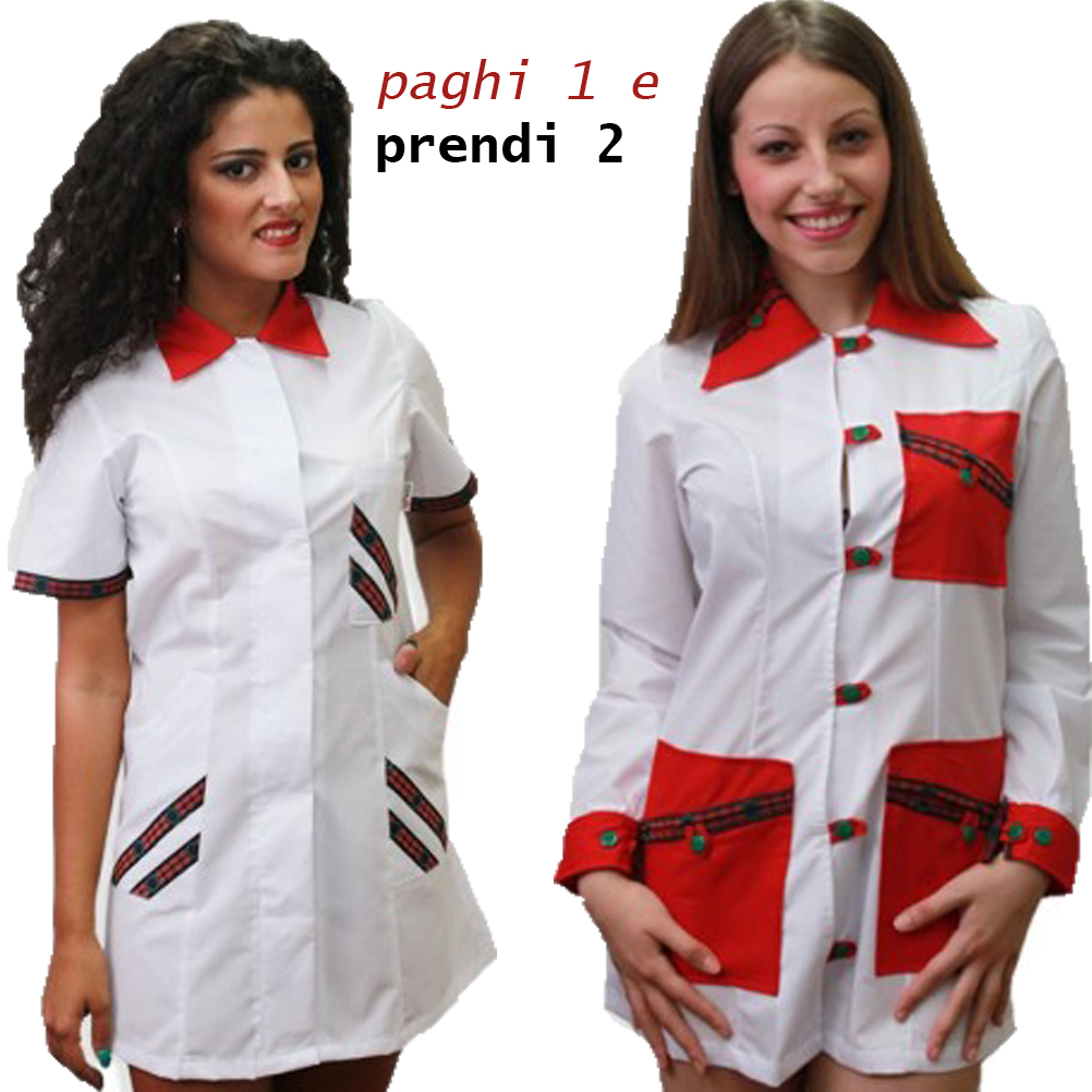 Two coats offer beautician teacher work school aprons lot woman