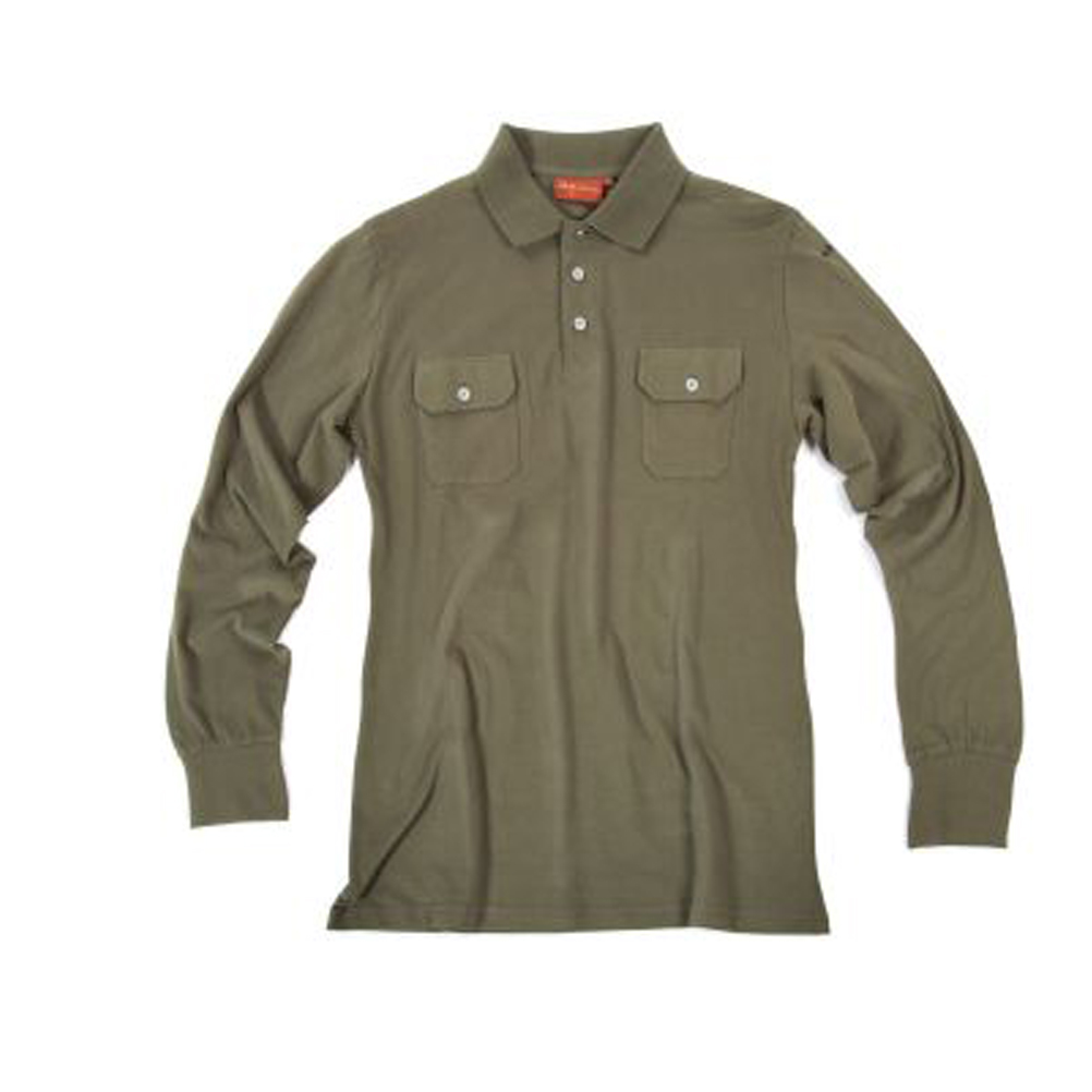 Polo long sleeves jersey button closing man t-shirt hunting