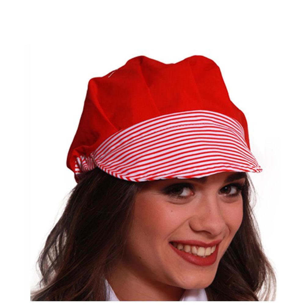408899b96fab ... Cappello berretto alimentare donna ristorazione cucina bar pizzeria  lavoro ...