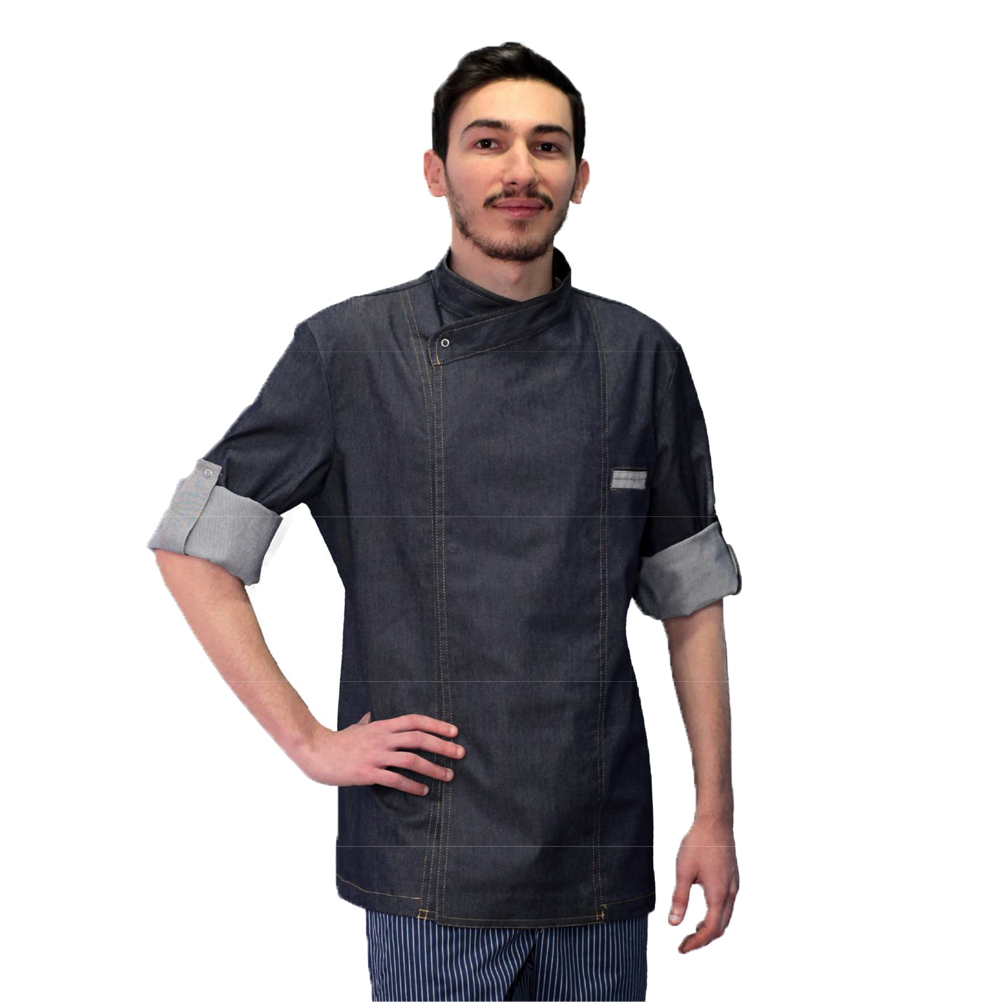 Smock jacket chef cooking cotton jeans dresses catering man pizzeria