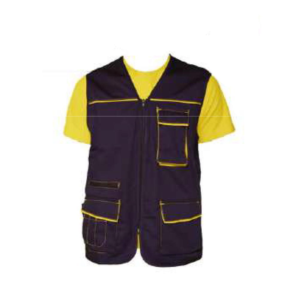 Sleeveless vest pockets electrician, cleaning clothes, working man, worker comfortable