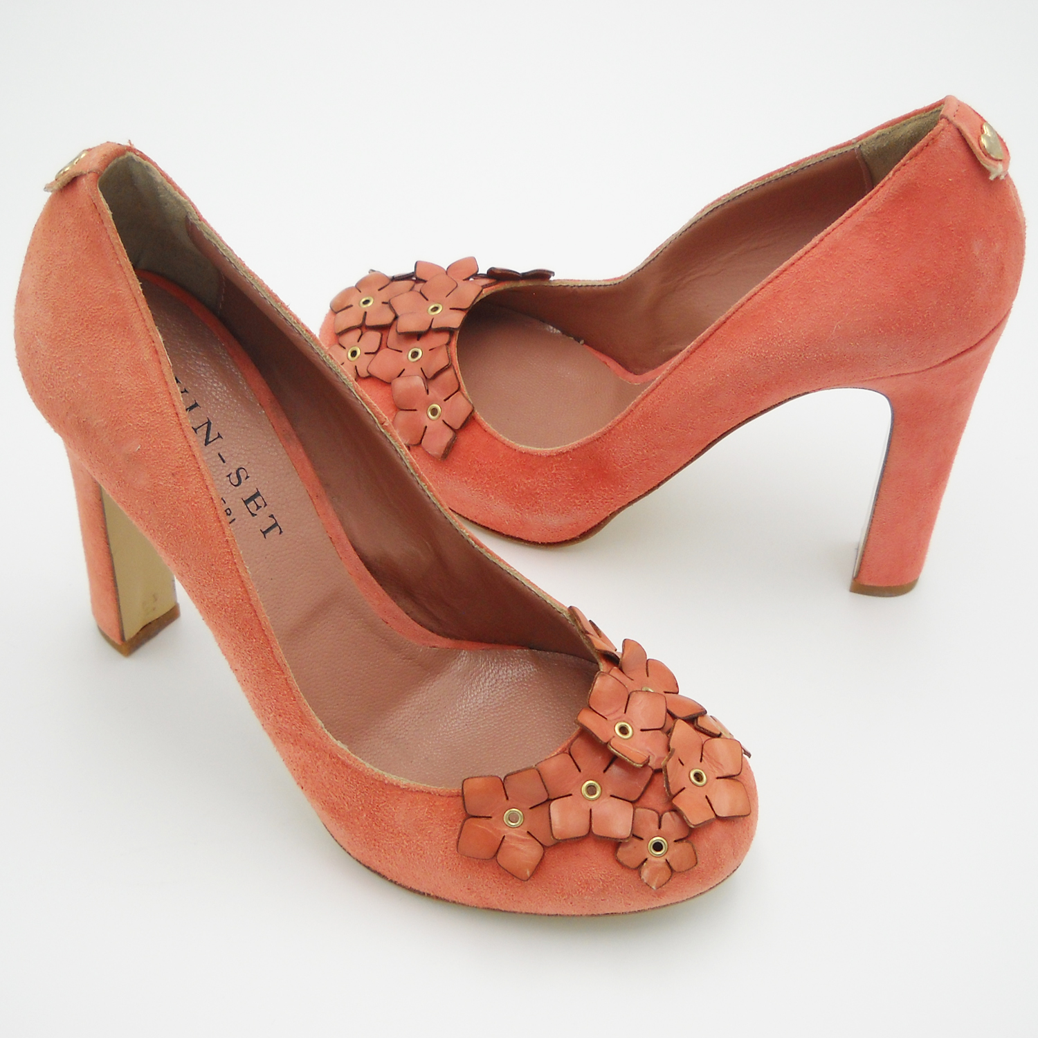 Heel shoes salmon twinset decolte woman 37 high calzture fashion