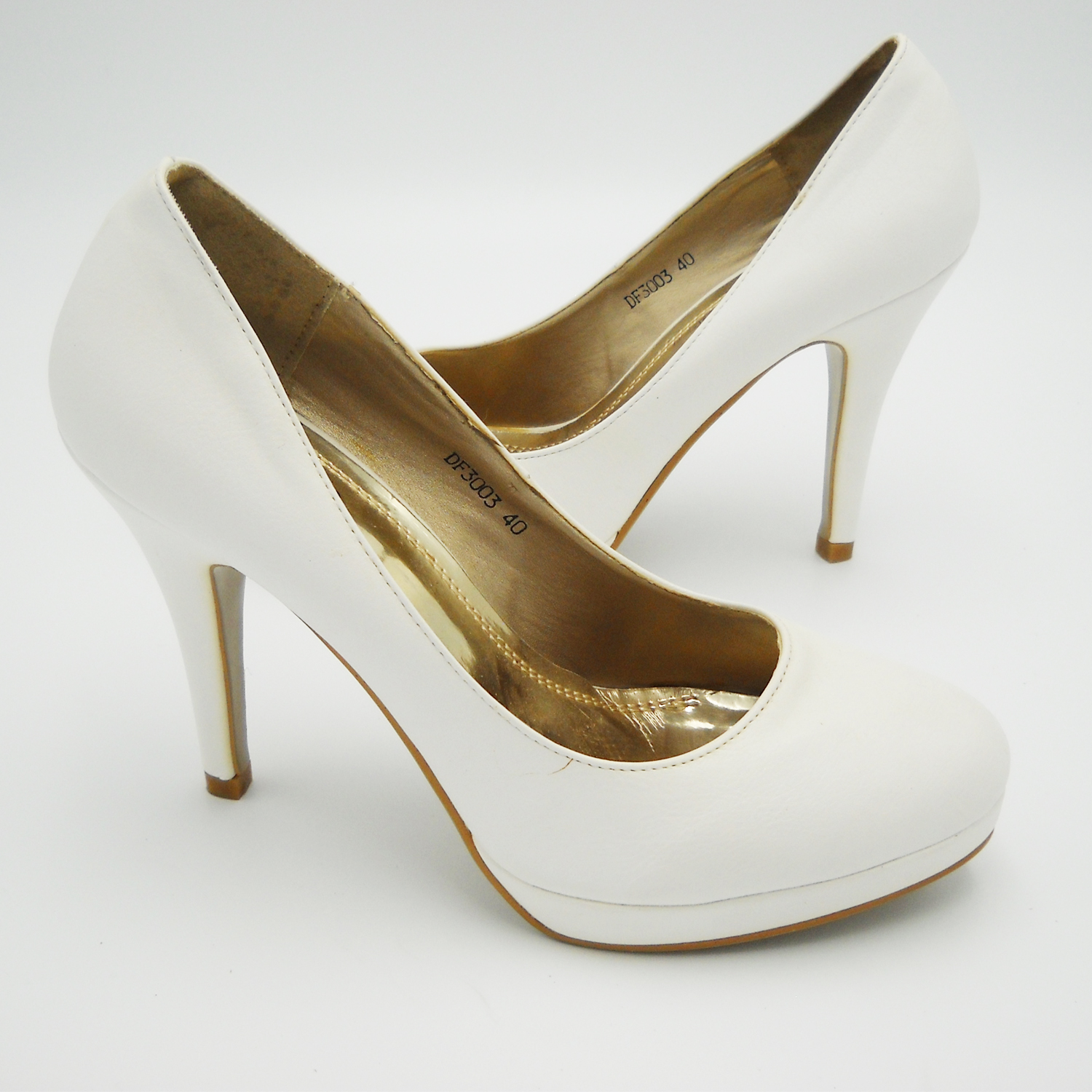 Shoes decolte white dress spiked heel 40 tall wedding woman shoes