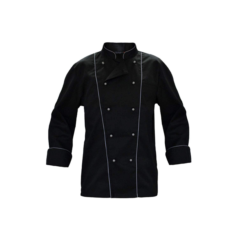Completo giacca cuoco nera serale e pantalone nero gessato elegante