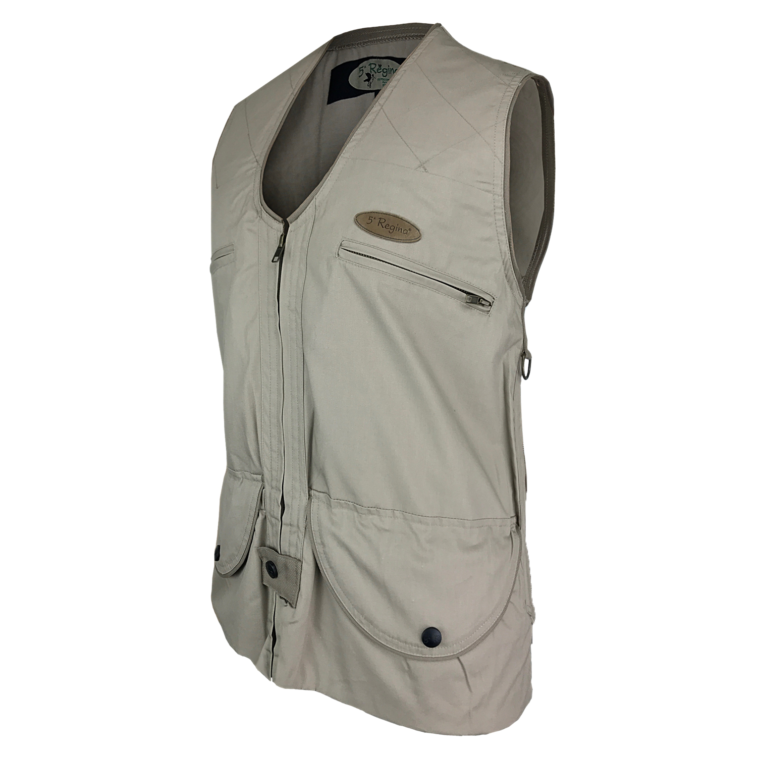 Sleeveless vest waistcoat hunting double pouch lined water Repellent