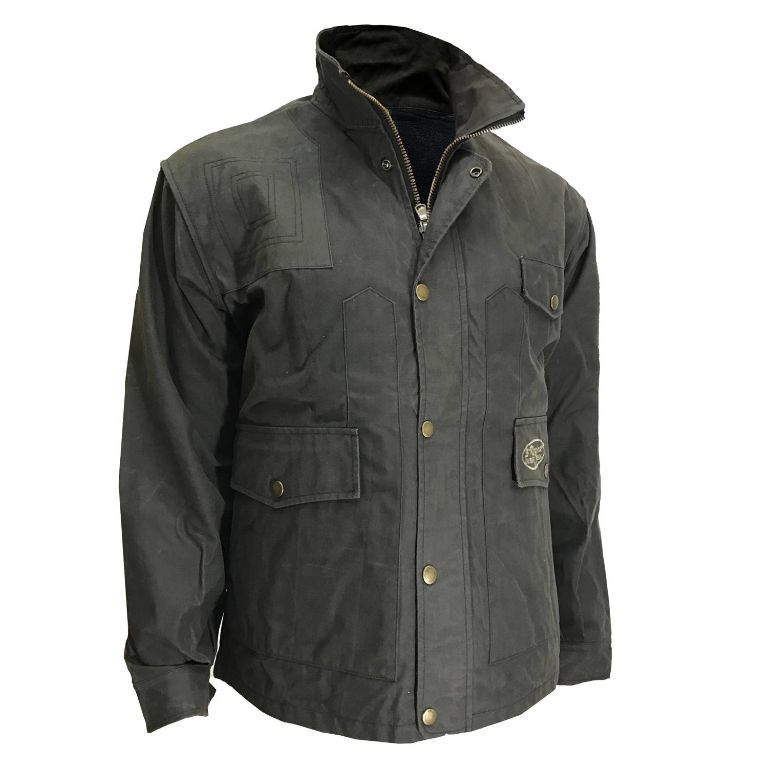 Jacket jacket in waxed cotton hunting man waterproof sports