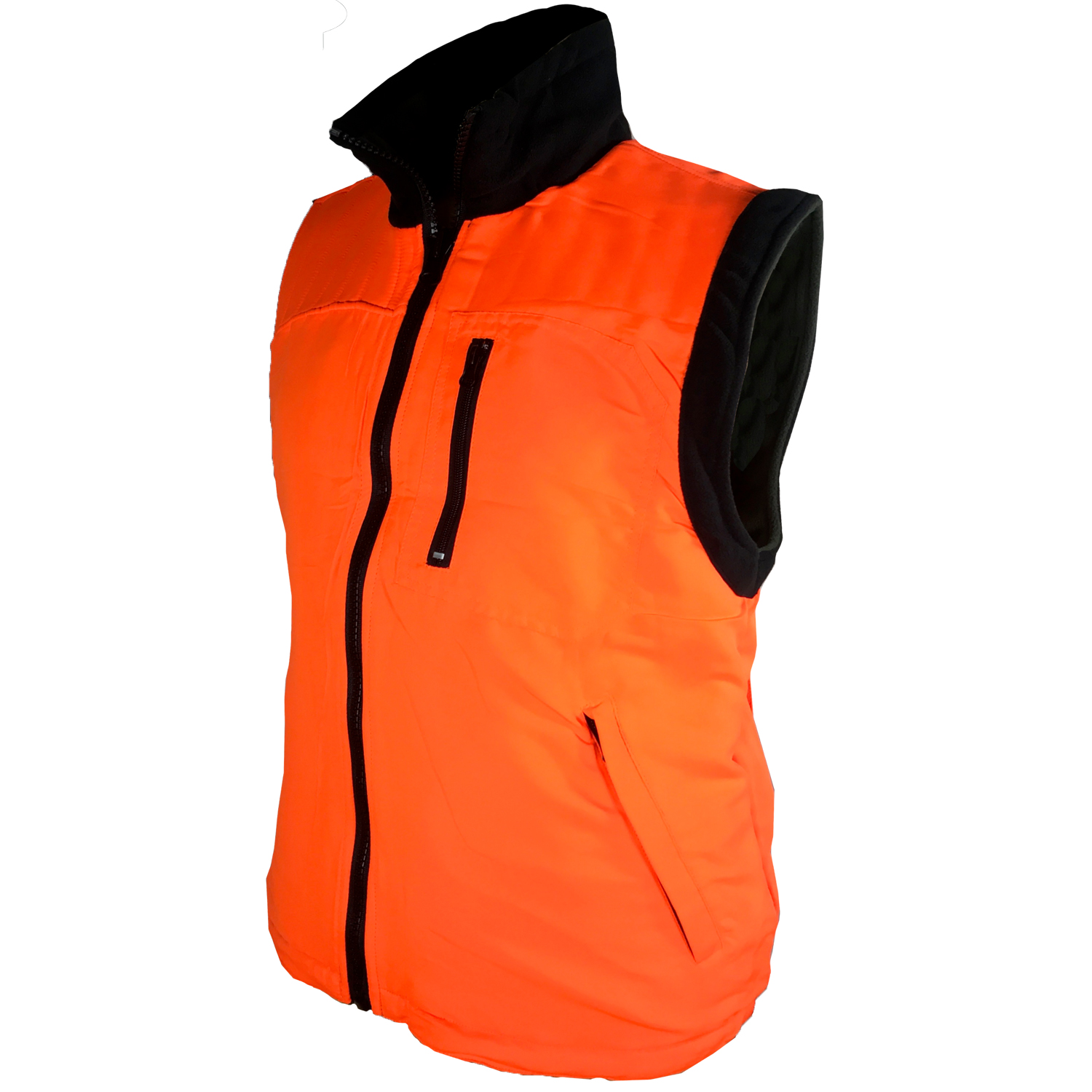 Sleeveless vest reversible microfleece anti-pilling wool hunting wild boar, snow mountain