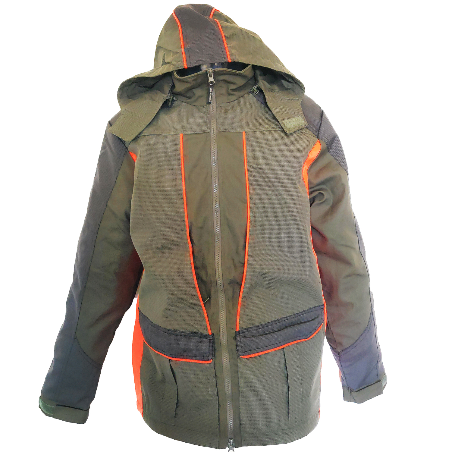 Jacket jacket Kevlar canvas orange hood high visibility man