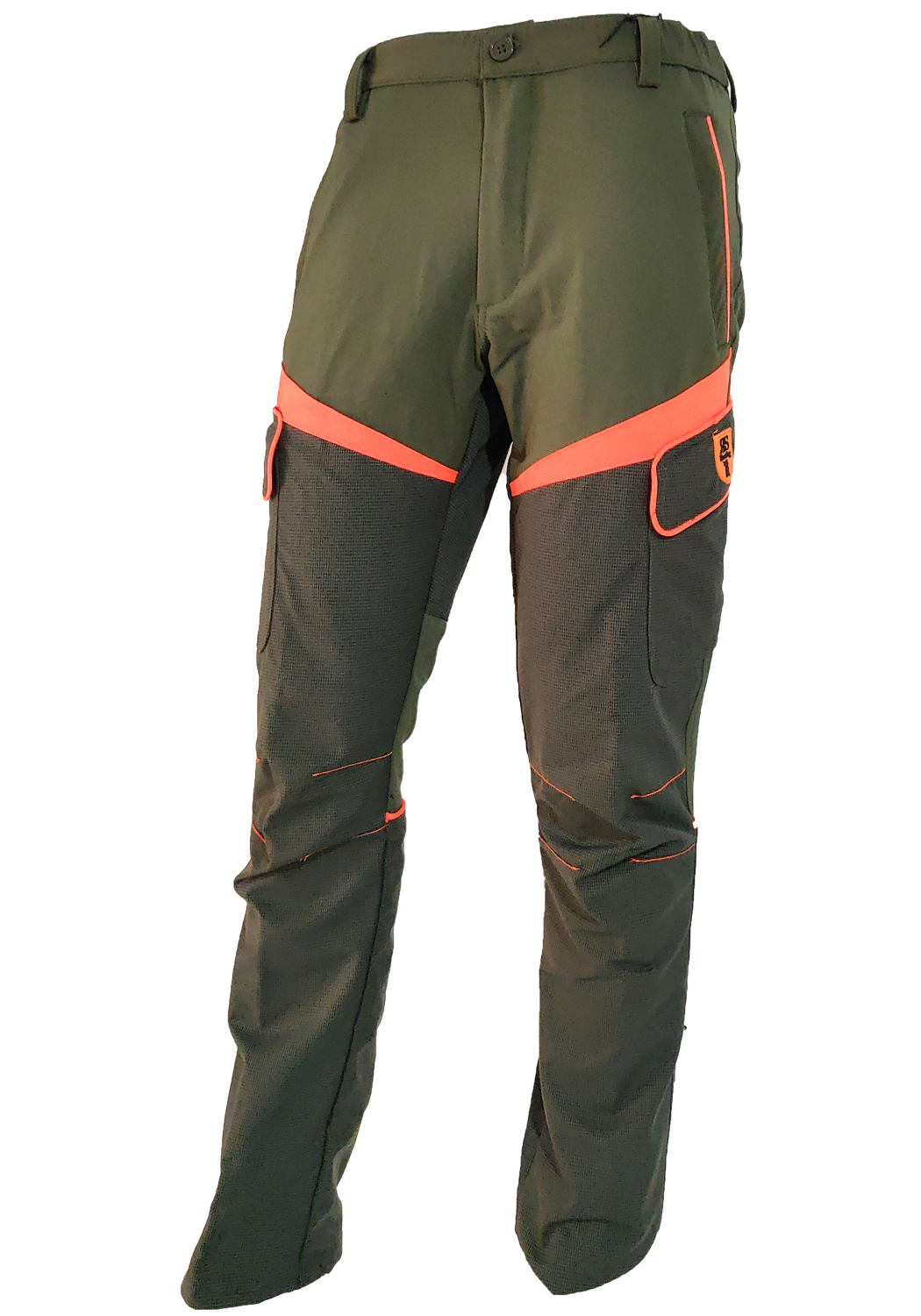 Trousers stretch slim swaps orange kevlar waterproof man