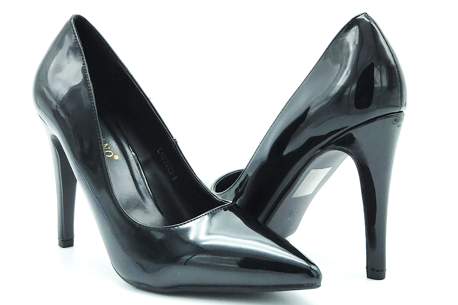 Shoes, decollete decolte' patent leather stiletto heel black sexy women's elegant