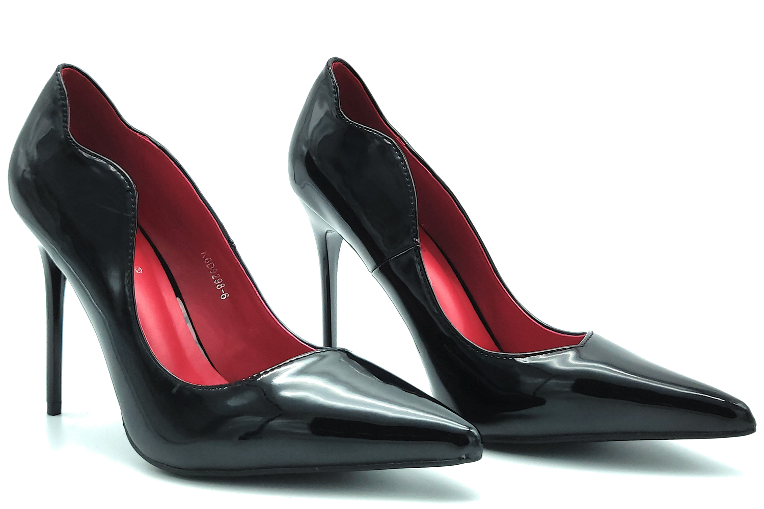 Decolte' woman paint in the evening the stylish black toe high-heel stiletto shoes