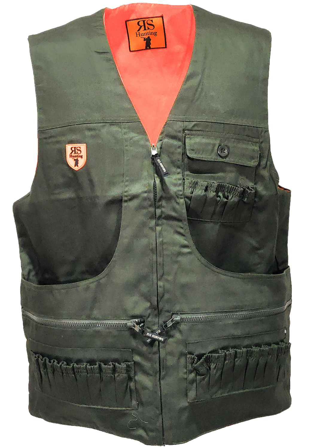 Sleeveless vest clothing hunting double face cartuccera man