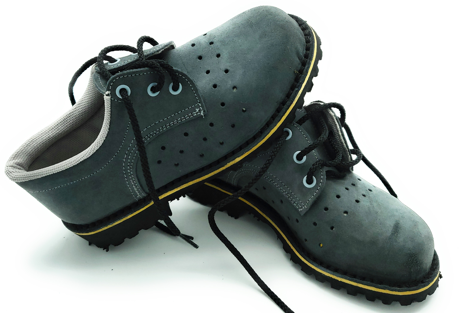 Shoes safety waterproof odor control external holes for breathability