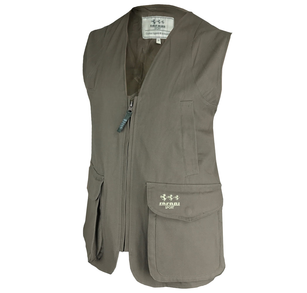 Sleeveless vest canvas and teflon, tear-proof, water-repellent clothing hunting