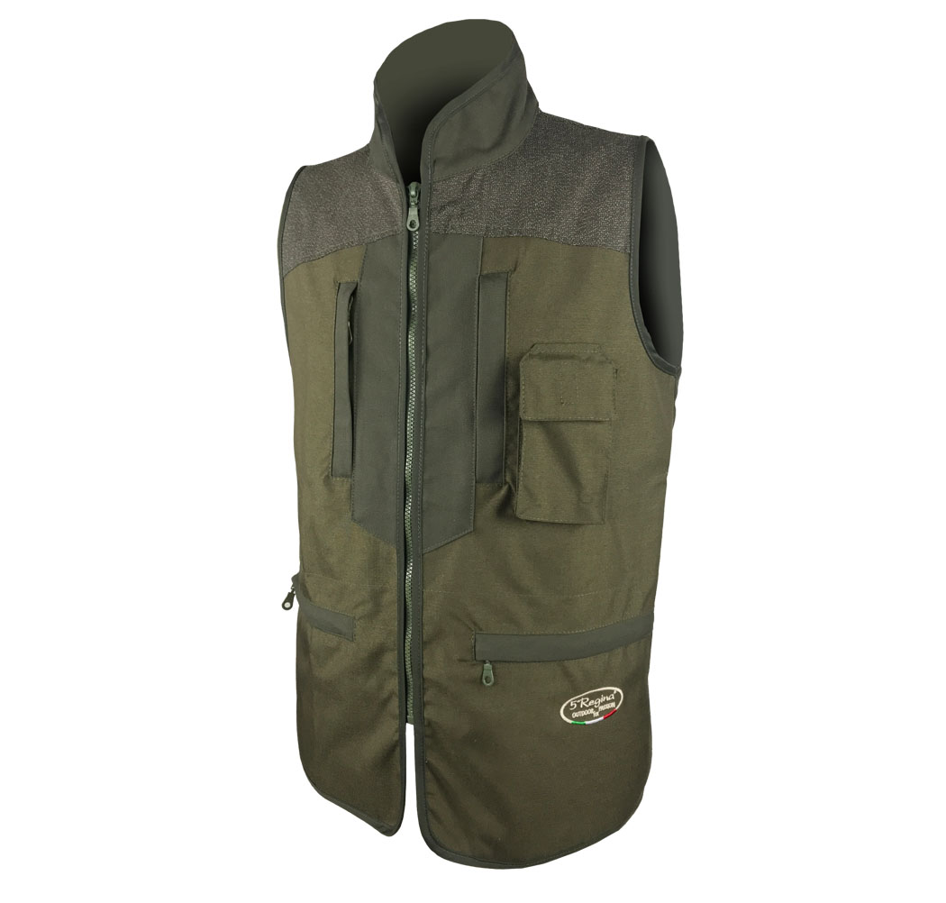 Sleeveless vest canvas cordura clothing, hunting, water-repellent tear-proof,