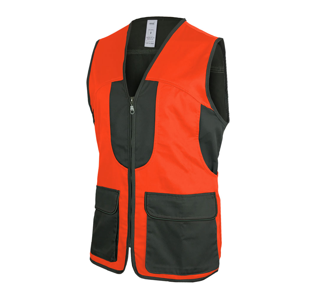 Vest orange boar high visibility fishing man outdoor policotone sport