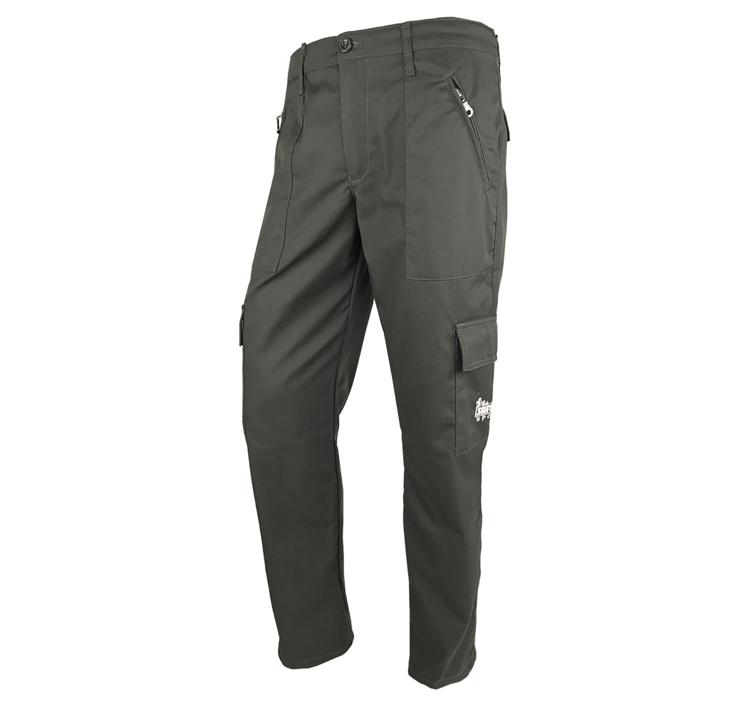 Pants hunting drill durable cotton breathable man trap antispino