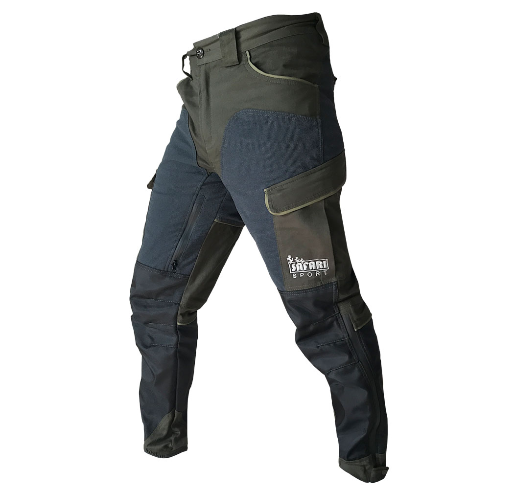 Pants slim hunting eleastico anistrappo rain multipockets breathable