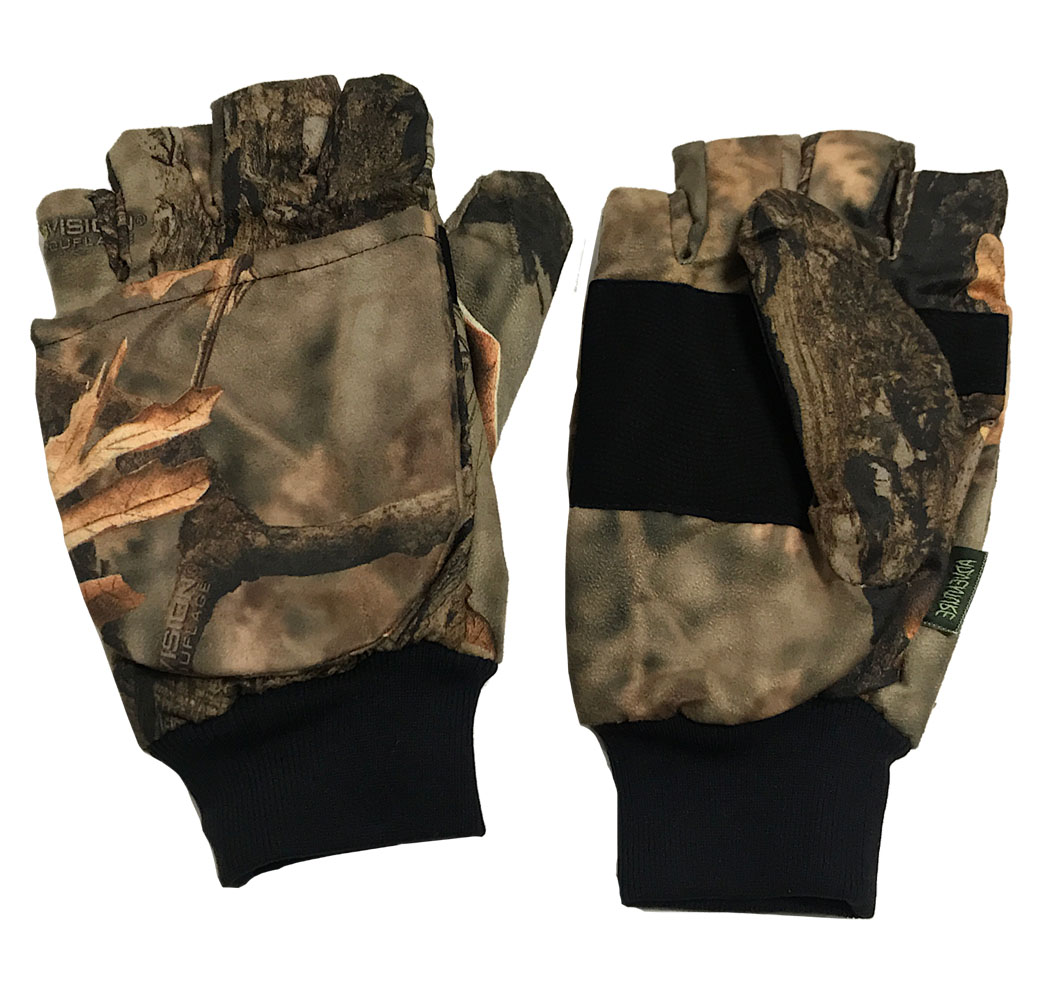 Waterproof gloves fingers cut off and moffola hunt snow fishing mountain