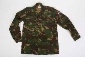 Man shirt Dutch winter camouflage heavy military buttons cotton canvas