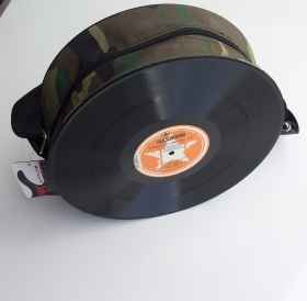 Handbag shoulder bag vinyl record 33 rpm-to-shoulder fabric adjustable shoulder strap