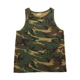 Tank top singlet unisex camouflage planted façade camouflage cotton elastic sea